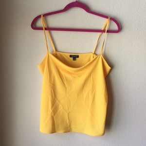 NWOT [Topshop] Yellow Tank Size Medium